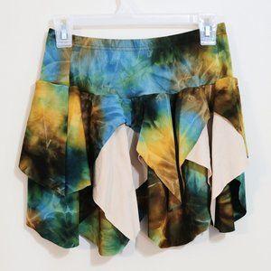 Starmaker pixie forest fairy tie dye stretch skirt